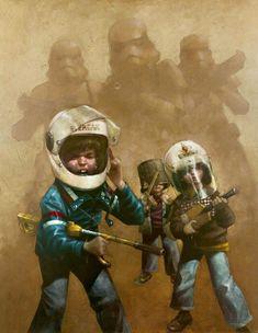 http://www.core77.com/posts/52322/Craig-Davisons-Wonderful-Childhood-Fantasy-Paintings