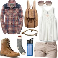 """Camping"" by alayaya on Polyvore.  Adorable!!"