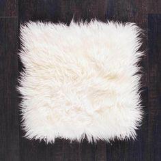 The Wool Company Seat Pads, Chair Pads, Cushion Pads, Shag Rug, Boho Chic, Cushions, Wool, Ivory, Shaggy Rug