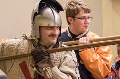 sword demonstration at worcester art museum