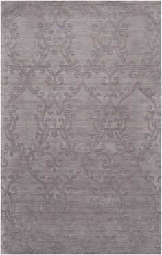 "Aptly named the ""Etching"" Collection, this wool rug has a fanciful traditional pattern accentuated by the varying rug pile. (ETC-4916)"
