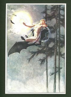 On The Bat's Back I do Fly By Paul Woodroffe . From The Tempest . Published by Chapman & Hall Ltd . London . 1908