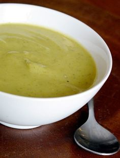 Zucchini Garlic Soup --   butter, white onion, powdered ginger