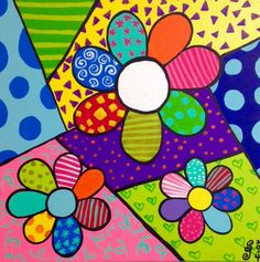 Romero Britto Day Of The Artist - - jpeg Drawing For Kids, Art For Kids, Painted Rocks, Hand Painted, Arte Country, Arte Popular, Art Plastique, Rock Art, Doodle Art