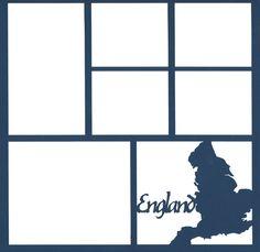 England 12 x 12 Overlay Laser Die Cut