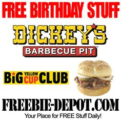 ►► FREE BIRTHDAY STUFF - Dickey's Barbecue Pit ►► #BDay, #BirthdayFreebie, #FreeBirthdayStuff, #HappyBirthday ►► Freebie-Depot