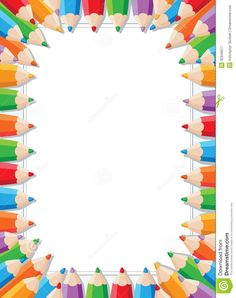 Clip Art Back To School Border Clip Art Colored Pencil Border Clip Art