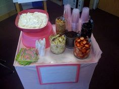 Yogurt Bar - we did something similar as part of our last women's ministry brunch - we opted for mixed fruit so they could have just fruit and/or put it on their yogurt.