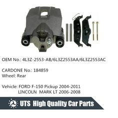 Disc Brake Caliper Rear Left&Right Reman fits 04-11 Ford F-150 Pick-up, Cardone No. 184858, 184859