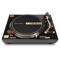 The limited edition gold Reloop turntable 425 #reloop #reloopdj #turntables #vinyl #vinyljunkie #turntablism by londonsoundacademy http://ift.tt/1HNGVsC