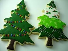 iced christmas cookies - Google Search