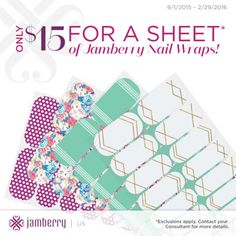 Jamberry nails wraps....the solution to chipping nail polish when you're always on the go!  Up to two weeks of intricate nail art!  Click to shop now!  #jamberry #jamberrynails #jamicure #manicure #pedicure #nailwraps #nailart #nailfashion #jamwithme
