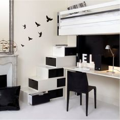 Great storage idea for a teenage bedroom