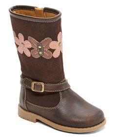 Look at this #zulilyfind! Brown Faith Floral Boot #zulilyfinds