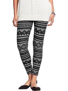 Womens Fashion Leggings w/ a long sweater/shirt  $16.50