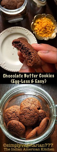 Chocolate Cookies - Eggless & Easy, how to make cookies without eggs, home made chocolate cookies recipe, chocolate shortbread recipe, kids can bake recipe Eggless Cookie Recipes, Eggless Baking, Baking Recipes, Dessert Recipes, Healthy Recipes, Baking Ideas, Fudge Recipes, Baking Tips, Drink Recipes