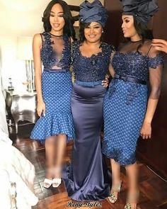 Shweshwe & Shoeshoe Traditional Wedding Dresses - Reny styles