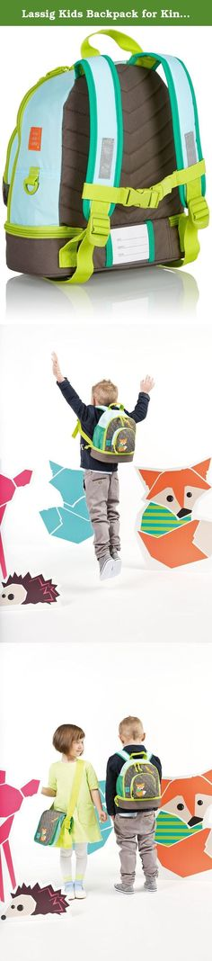 Lassig Kids Backpack for Kindergarten or Pre-School with chest strap, name badge and drink Bottle Holder, Little Tree Fox. The mini backpack from Lassig is perfect for the pint-sized, who are not yet big enough for a regular-sized pack but are anxious to start carrying around their own things. The mini backpack encourages independence while offering a functional space. A variety of large zipper pockets, adjustable shoulder straps and bright designs make this bag perfect for toddlers and...