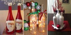 Creative Christmas decoration ideas using wine bottles.
