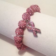 NEW Bling Hoops Pink Ribbon Breast Cancer Awareness by BlingHoops, $14.99