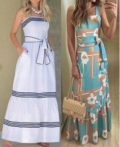 DIY - molde, corte e costura - Marlene Mukai Mode Outfits, Dress Outfits, Casual Dresses, Casual Outfits, Fashion Dresses, Summer Dresses, Diy Vestido, Diy Clothes, Clothes For Women