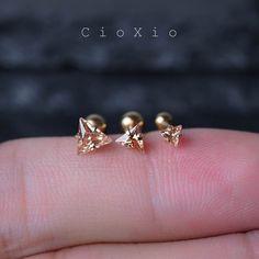 cartilage oreille tragus boucle d'oreille 16g cartilage par CioXio