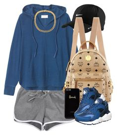"""Navy."" by livelifefreelyy ❤ liked on Polyvore featuring Toast, NIKE, MCM and Harrods"