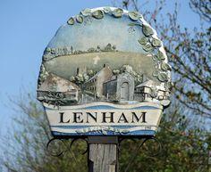 Lenham village sign, Kent, England