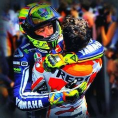 Hug - Rossi and marquez