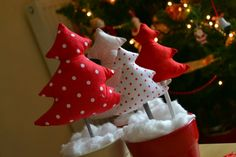 Sewing tutorial: how to make a christmas tree display