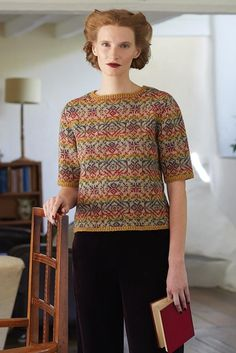 A collection of fair isle and stitch textures worked in Felted Tweed Fair Isle Knitting Patterns, Fair Isle Pattern, Sweater Knitting Patterns, Crochet Cardigan, Knitting Designs, Knit Crochet, Sock Knitting, Knitting Tutorials, Crochet Granny