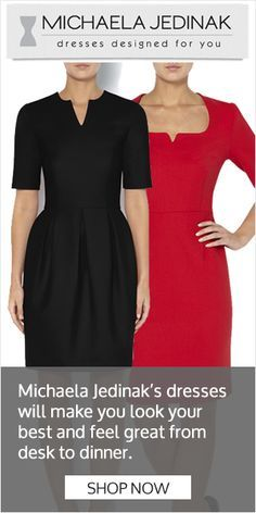 Michaela Jedinak�s dresses will make you look your best and feel great from desk to dinner. Shop Now