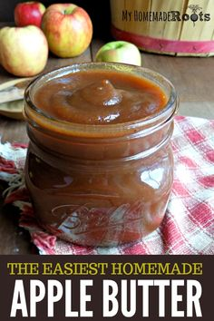 The Easiest Homemade Apple Butter - Quick/Simple/Easy Recipes Apple Recipes, Fall Recipes, Real Food Recipes, Dessert Recipes, Delicious Desserts, Fondue Recipes, Canning Recipes, Cooker Recipes, Crockpot Recipes