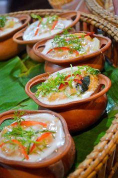 Curried Fish Mousse in Banana Leaf (Click to enlarge)