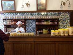 Vefa Bozacısı's house speciality is a mucus-coloured drink of sugar and fermented barley. Dare you try it? Image by Virginia Maxwell / Lonely Planet