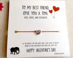 Pulsera de deseo de amistad mejor amigo elefante por LemonArtStudio