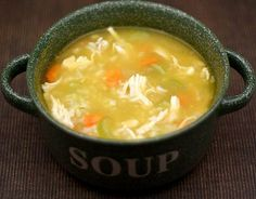 Easy chicken and rice soup.