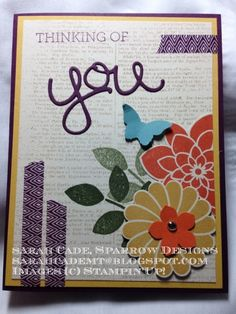Thinking of You by Sarah Cade - USA (Montana), Crazy About You Stamp Set