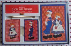 Raggedy Ann & Andy Card/Bridge Gift Set  1973  by smileitsvintage