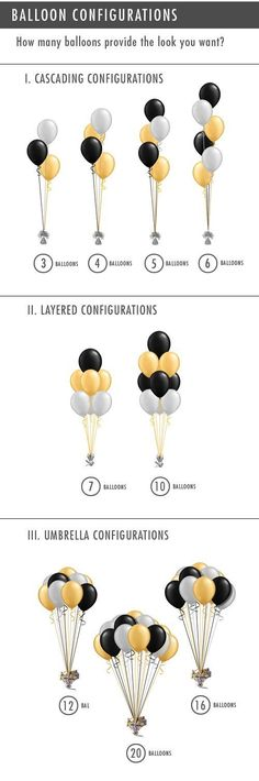 Cool Ways To Display Balloons For Your Next Event - Partydeko - Birthday Grad Parties, Holiday Parties, Deco Ballon, Silvester Party, Festa Party, 50th Birthday Party, Birthday Ideas, Halloween Birthday, Birthday Quotes