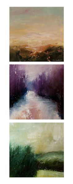 I saw one of Erica's paintings on Pinterest and was totally mesmerized. Her abstract landscapes are full of emotion and seem to have a quality reminiscent of ink blots tests. You see what you want in each abstraction. Erica Kirkpatrick: Portfolio   Blog #OilPaintingNature