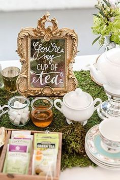 An elegant yet whimsical royal wedding inspired tea party elopement styled shoot by Something Blue Photography & Design.