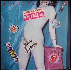 "Rolling Stones ""Undercover"" album with original stickers. 1983. 