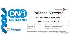 Invito all'evento DNA ARTIGIANO presso Palazzo Vecchio nel salone dei 500 per riconoscimento. Dna, Gout