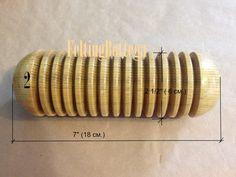 Wooden wet felting tool Felting Roller Wet felting tool for