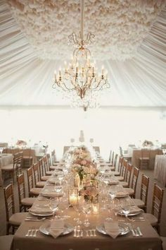 White themed wedding table decoration #wedding #decoration #marquee