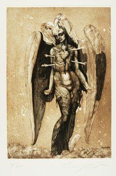 Ernst Fuchs, Icarus, 1976