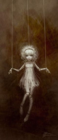 I usually avoid creepy things, but this is perfect for Rune! (Marionette by ~yumedust Digital Art / Drawings & Paintings) Art And Illustration, Fantasy Kunst, Fantasy Art, Marionette Tattoo, Marionette Puppet, Art Sinistre, Pintura Graffiti, Art Amour, Arte Horror
