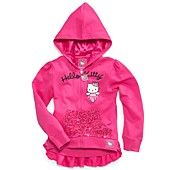 Hello Kitty Kids Sweatshirt, Little Girls French Terry Sequin Hoodie