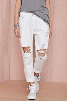 RES Denim Romeo Boyfriend Jean - White